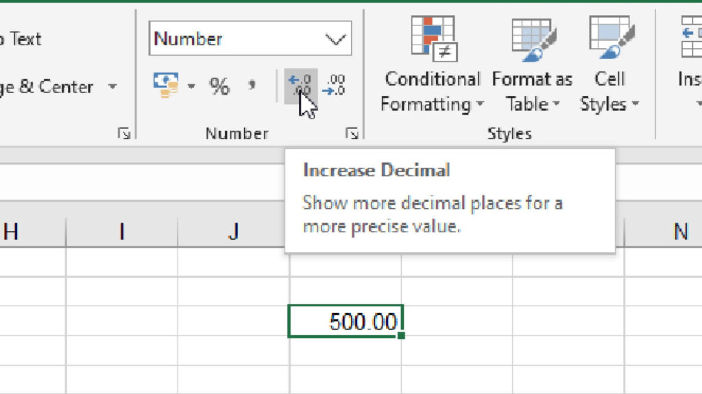 Question: 003 - Increase Decimal in Excel
